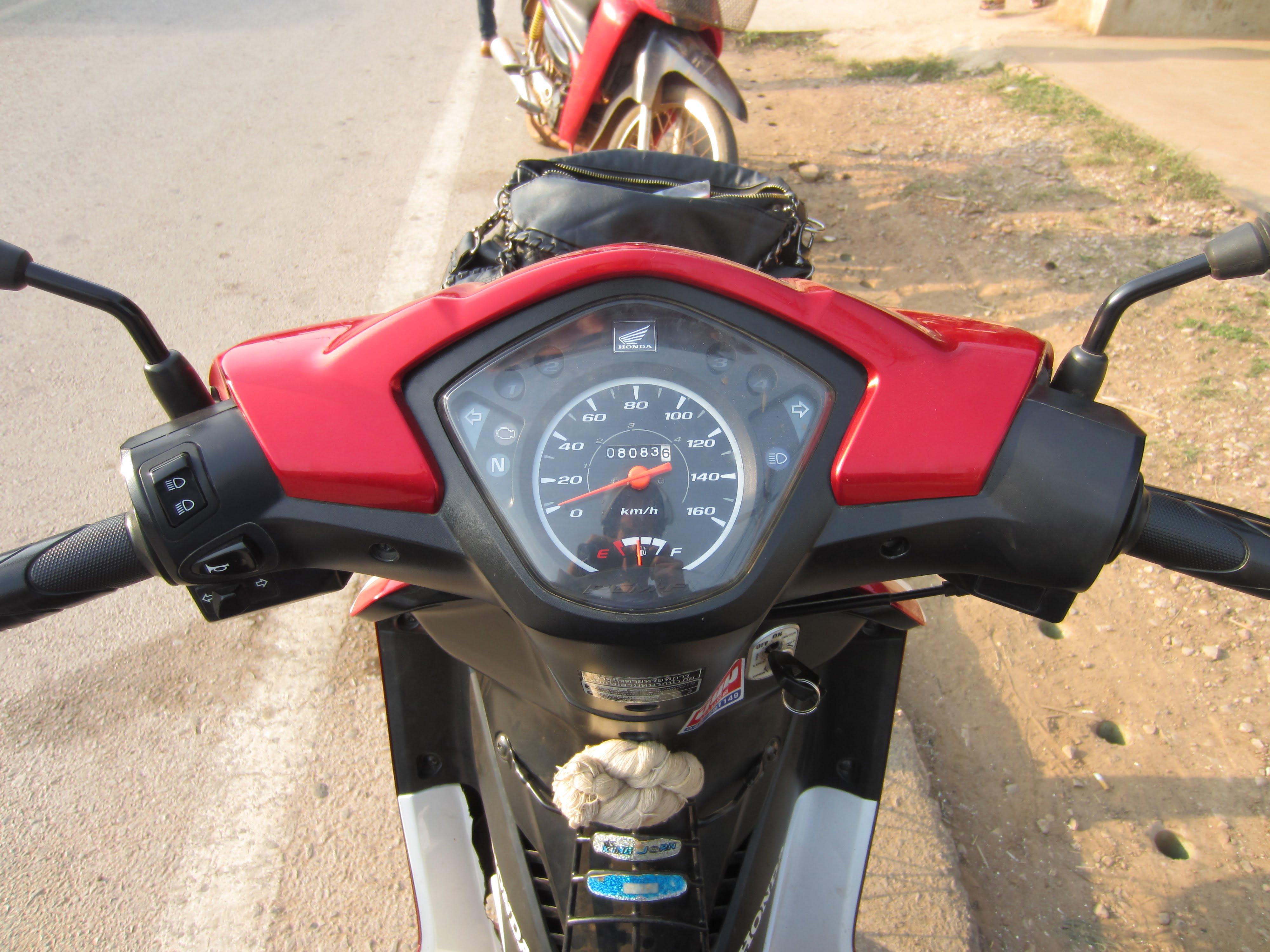 scooter rijden in Thailand