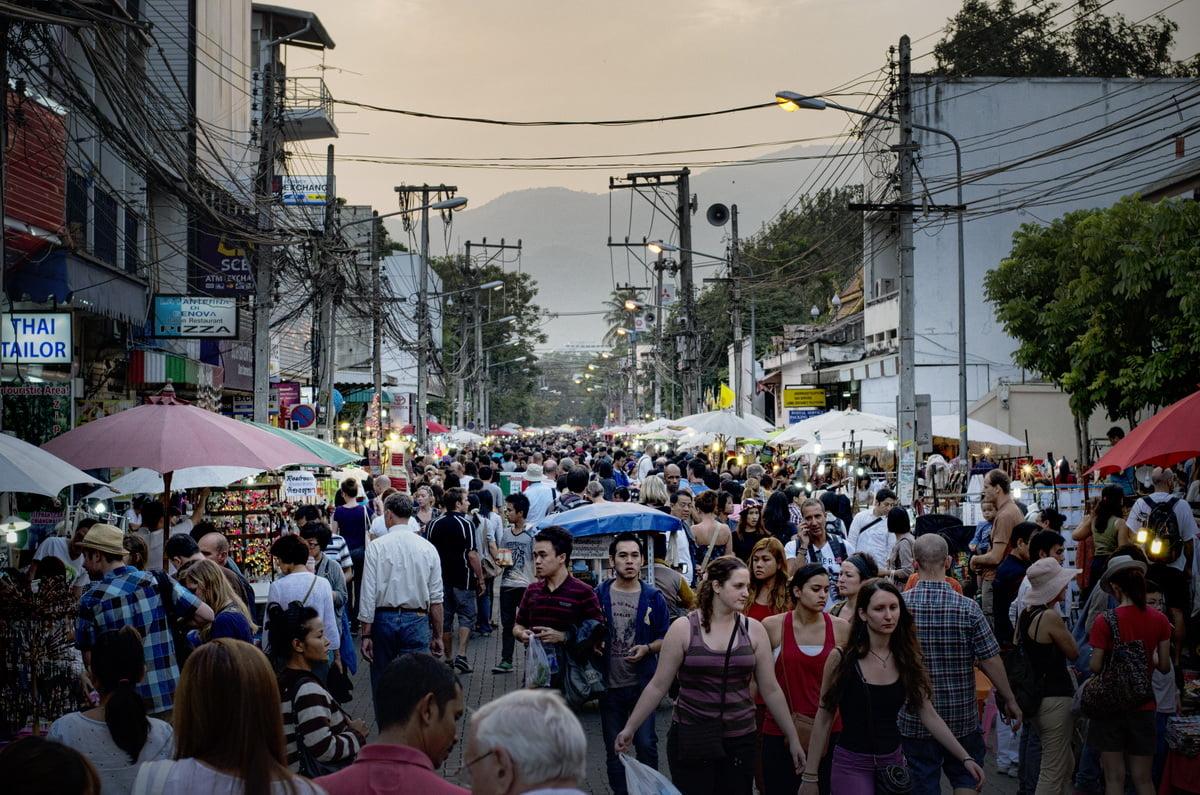 weekendmarkt van Chiang Mai