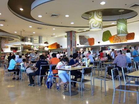 goedkope maaltijden in food courts