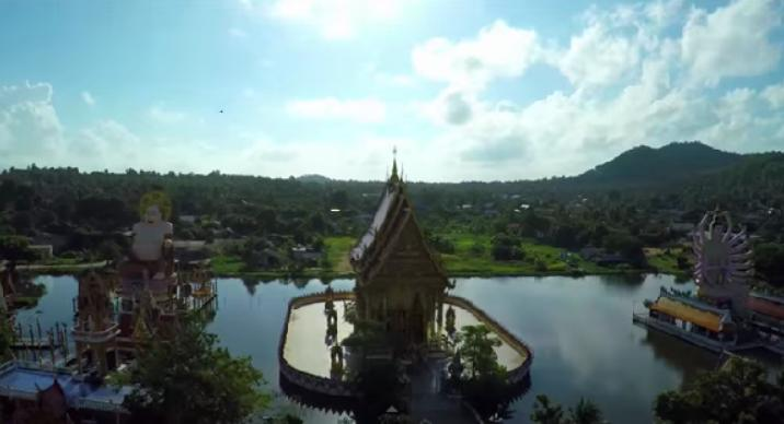 De drone boven Thailand (video)