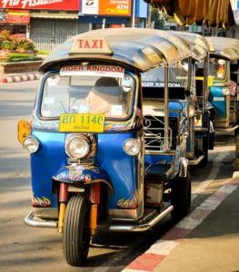 Meer tuk-tuks in Bangkok