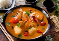 Thaise rode curry met vis