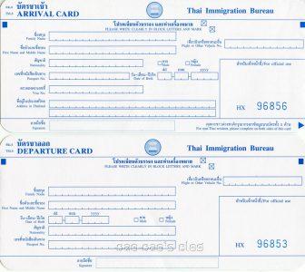 Thaise immigratiekaart