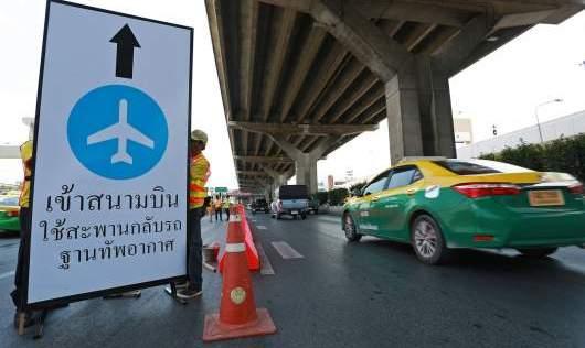 Fly-over naar Don Mueang Airport tijdelijk gesloten