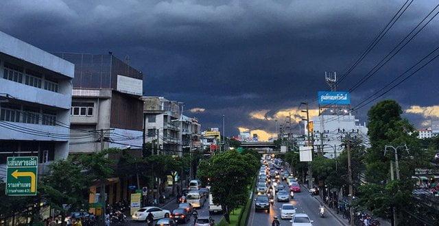 Veel regen in Thailand, maar niet teveel