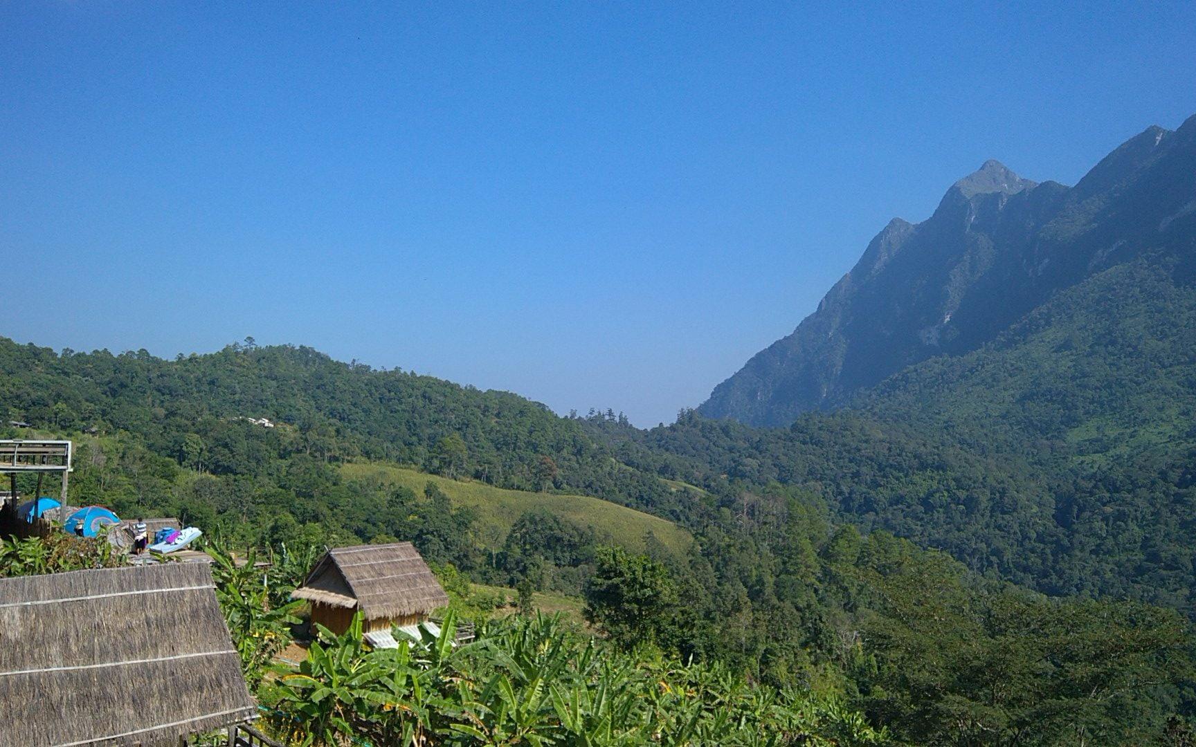 Overnachten in de bergen van Chiang Dao