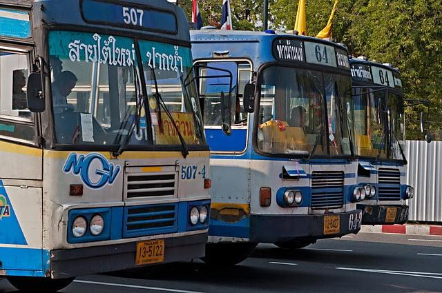 Reizen bus in Thailand veilig