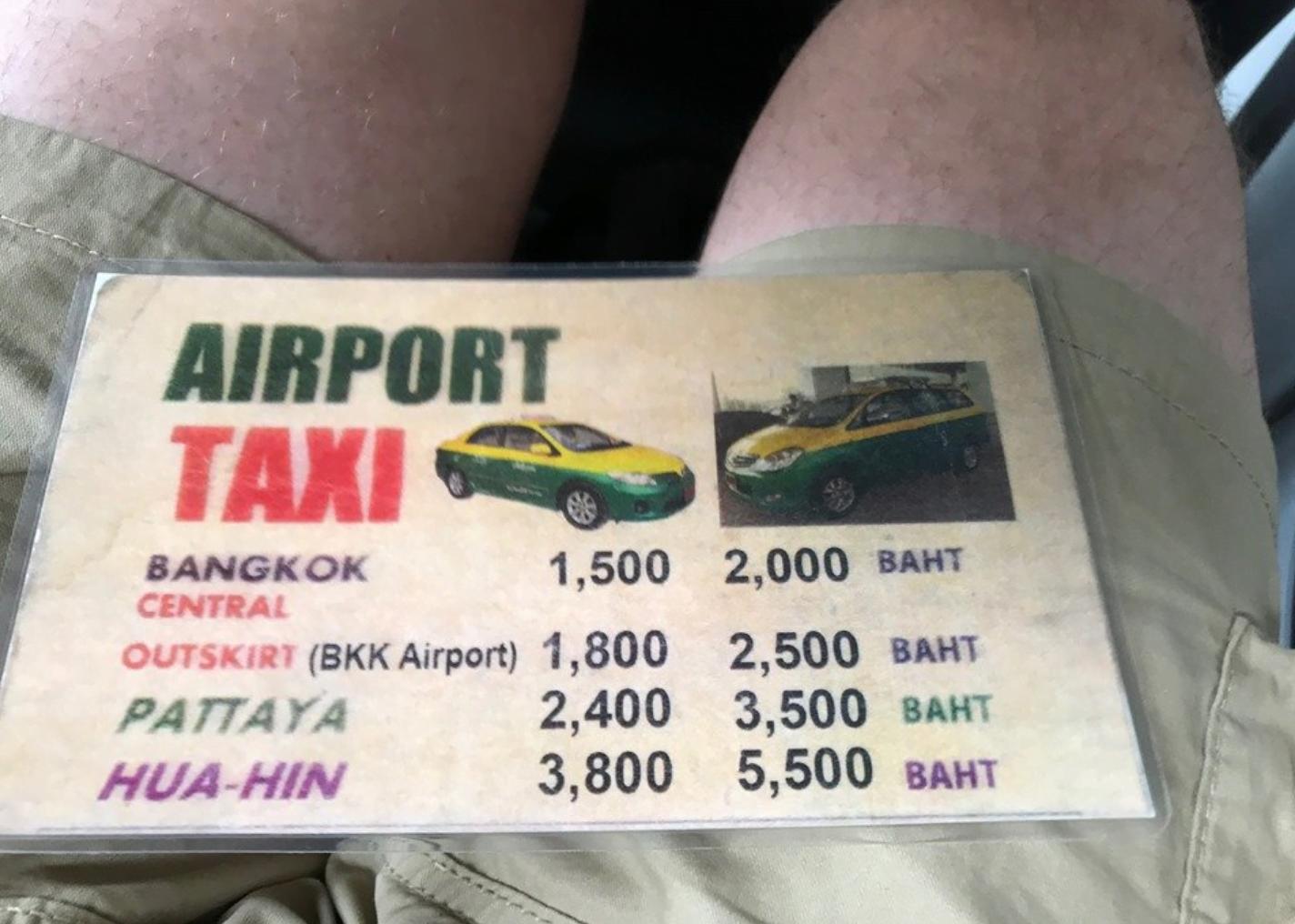 taxi naar bangkok centrum